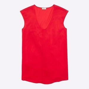 J.Crew Cap Sleeve Shirttail Blouse | xs